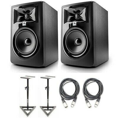 JBL 305P MkII Studio Monitoring Speakers (LSR305) W/AxcessAbles Stands & Cables • 260.65£