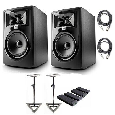 JBL 305P MkII Studio Monitoring Speakers (LSR305), W/  AxcessAbles Accessories • 267.56£