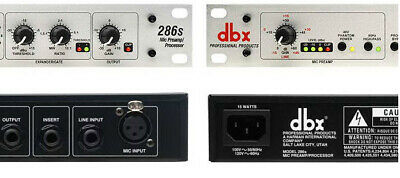 DBX 286S , Microphone Pre-amp Processors,Two Non Working Units, Parts Or Repair, • 75.86£