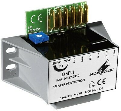 Monacor DSP-1 Mono-Lautsprecher-Schutzmodul, Power 20-200 W Adjustable • 41.11£