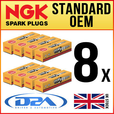 8x NGK BP5HS (4111) Standard Spark Plugs For ROVER 3500 3.5 ->76 • 14.60£
