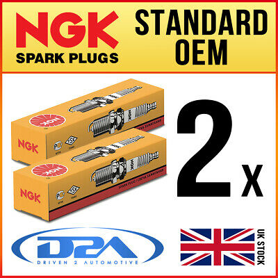 2x NGK B7HS (5110) Standard Spark Plugs For DUCATI 750 SS -->90 • 5.06£