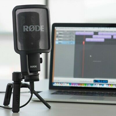 Rode NT-USB Microphone - Vocal Streaming COMPLETE With Desk Stand & Pop Shield • 184.99£