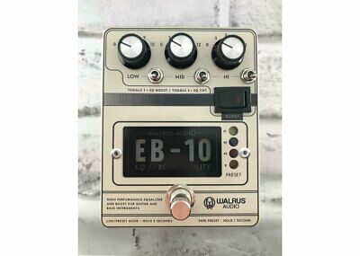 Walrus Audio EB-10 Preamp EQ Boost Cream FREE 2 DAY SHIP • 149.60£