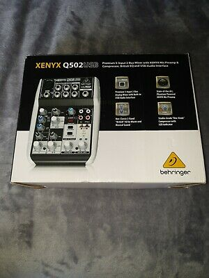 Behringer Xenyx Q502USB Powered Mixer *NO POWER SUPPLY INCLUDED* • 39.99£