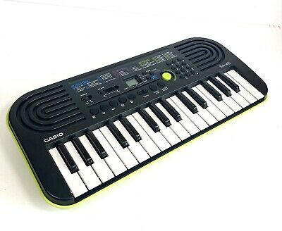 Casio SA-46 Portable Mini 32 Key Keyboard Green With Speakers Drum Pads WORKING • 24.99£