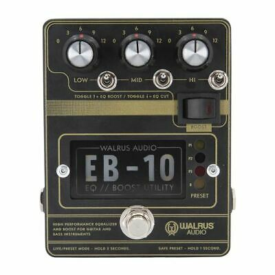Walrus Audio EB-10 Preamp / EQ / Boost Black • 172.25£
