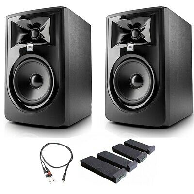 JBL 305P MkII Studio Monitoring Speakers, Isolation Stands, AxcessAbles Cables  • 273.55£