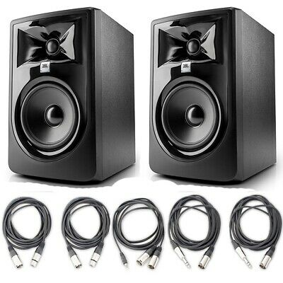 JBL 305P MkII 5' Recording Studio Monitor Speakers With 5 AxcessAbles Cables • 252.18£