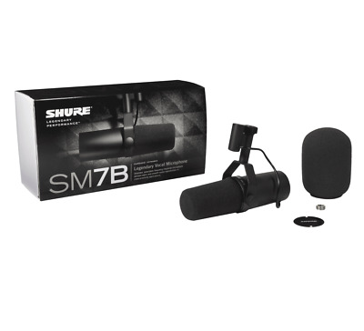 Shure SM7B Dynamic Vocal Microphone - Cardioid Pattern Presence Boost - IN STOCK • 459.99£