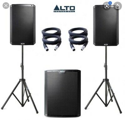 ALTO TS315 Pair Active Speakers And 1 X TS315S Sub  6000 Watt Power PA System • 867£