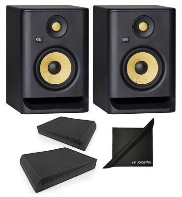 KRK ROKIT RP5G4 5'' 2-Way Active Studio Monitoring Speakers Pair With Iso Pads • 261.87£