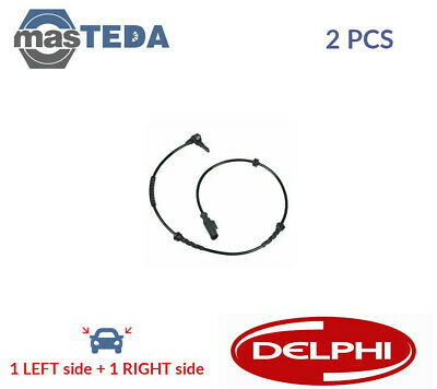 2x DELPHI FRONT ABS WHEEL SPEED SENSOR PAIR SS20241 P NEW OE REPLACEMENT • 41.99£