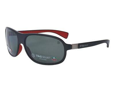 Tag Heuer Legend 9301 112 Black & Red Sunglasses Sonnenbrille Grey CAT3 Lenses • 124£