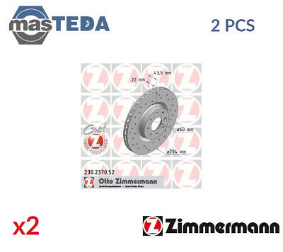 2x ZIMMERMANN FRONT BRAKE DISCS SET BRAKING PAIR 230237052 P NEW OE REPLACEMENT • 193.99£