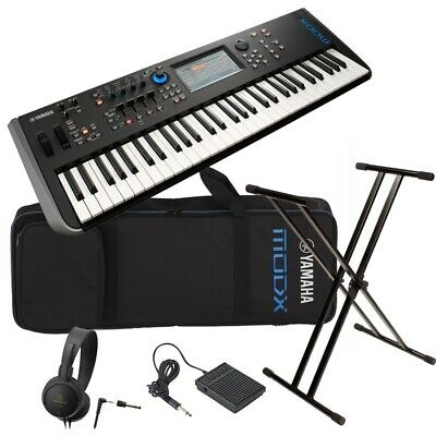 YAMAHA Synthesizer MODX6 Case & Pedals & X-type Keyboard Stand & Headphones Set • 2,315.41£