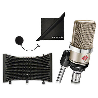 Neumann TLM-102 Studio Condenser Microphone W/ Isolation Shield And Polish Cloth • 530.28£