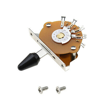5-way Selector Switch For Fender Strat Tele With Black Tip Mounting Screws • 9.21£