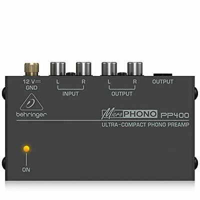 Behringer PP400 Microphono Ultra Compact Phono Preamp Assorted Colour • 26.64£