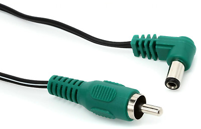 Cioks 4050 Flex 4 80cm Center Positive 5.5/2.5mm Green DCPlug Guitar Pedal Cable • 3.66£