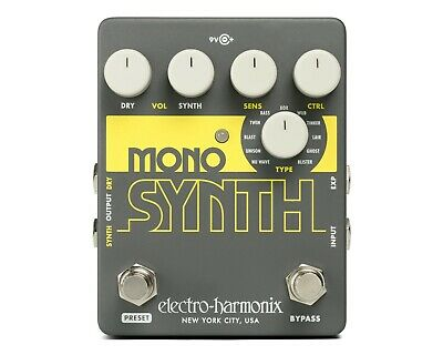 EHX Electro Harmonix Mono Synth Guitar Synthesizer Effects Pedal, Brand New • 92.17£