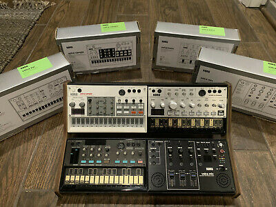 Korg Volca Set (Sample, Bass, FM, And Mix) W/Sequenz Rack - Excellent Condition • 397.97£