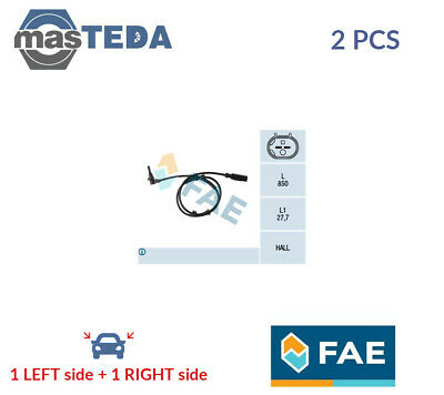2x FAE FRONT ABS WHEEL SPEED SENSOR PAIR 78112 P NEW OE REPLACEMENT • 45.99£