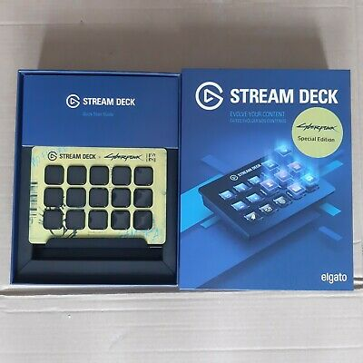 Elgato Corsair Stream Deck 15 Customizable Keypad - Cyberpunk Special Edition • 150£