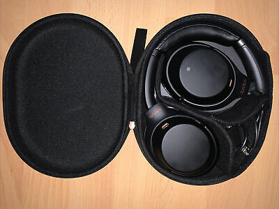 Sony WH-1000XM3 Noise Cancelling Headphones, Black, Carry Case - 1st Class Post • 49.99£