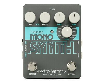 EHX Electro Harmonix Bass Mono Synth Bass Synthesizer Effects Pedal, Brand New • 93.14£