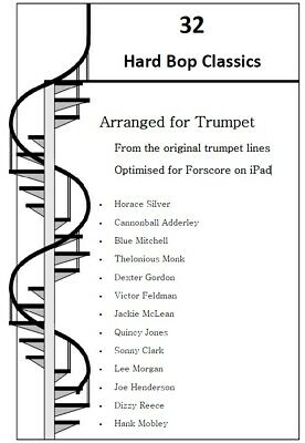 32 HARD BOP CLASSICS FOR TRUMPET. Jazz Music for Trumpet in PDF format
