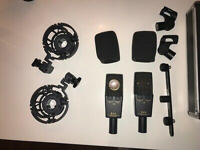 AKG C414 XLII Condenser Microphone Set, Stereo Pair, Used But Great Condition. • 1,000.64£