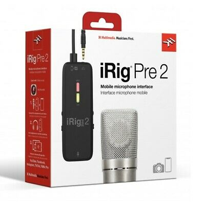 IK Multimedia iRig Pre 2 - Microphone Interface for Smartphones and Videocameras