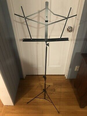 On-Stage Stands Sheet Music Stand Foldable (Black) • 6.51£