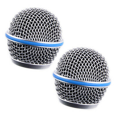 2Pcs Mic Ball Head Mesh Microphone Grille Cover Fit For Shure Beta58A SM58 Pgx24 • 5.26£