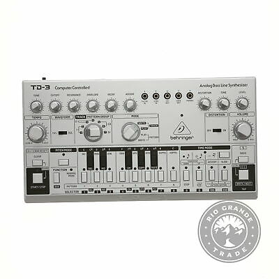 USED Behringer TD-3-SR Synthesizer With True Analog Circuitry For Bass & Groove • 95.70£