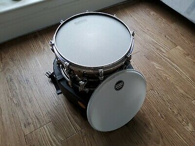 PST137 Tama Starphonic Steel 13 x 7 With Hardcase, Evans Hybrid And Stock Heads
