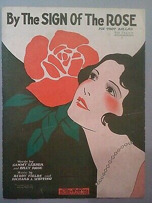 Vintage Antique 1920s Art Deco Sheet Music Songbook -By The Sign Of The Rose USA