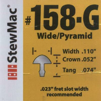Wide / Pyramid 'Gold' Fret Wire (#158-G) 1ft, for Electric Guitar / Bass