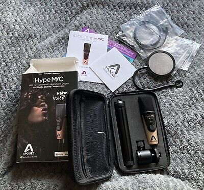 Apogee HypeMiC USB Cardioid Condenser Microphone Mac iPhone PC Podcast Hype Mic