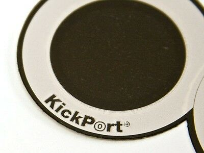 Kickport D pad double bass drum impact pad black pack of 2