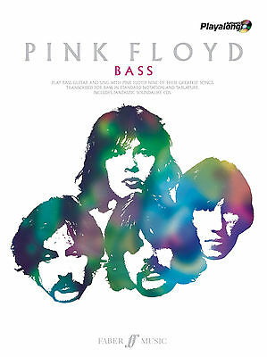 Pink Floyd Authentic Bass Playalong Rock GUITAR Tab SONGS FABER Music BOOK & CD • 23.49£