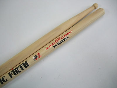 Vic Firth New Model 5ABRL Barrel wood tipped drum sticks. 5A  American hickory.