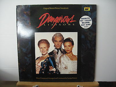 George Fenton DANGEROUS LIAISONS Original Soundtrack VINYL LP Free UK Post • 15£