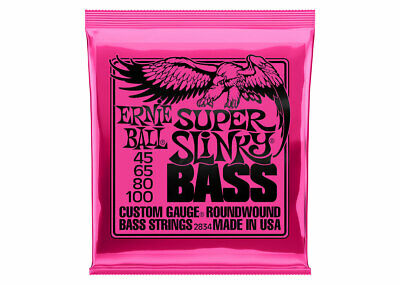 Ernie Ball 2834 Super Slinky Electric Bass 4 String Set 45-100 • 15.46£
