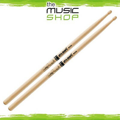 New Set Of Promark Hickory SD9 Teddy Campbell Drumsticks With Wood Tips - TXSD9W • 16.86£