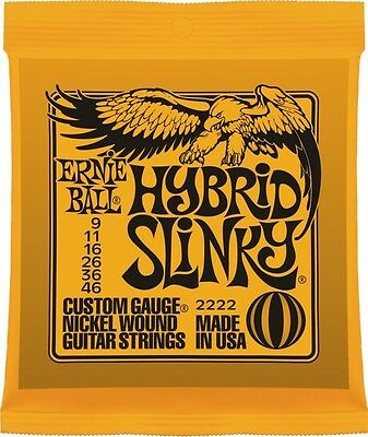 Ernie Ball Hybrid Slinky 9-46 Electric Guitar Strings. 2222 • 6.99£