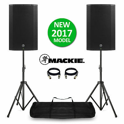Mackie Thump15A V4 Active DJ PA Speakers 15  2600W With Stands & Bag NEW! 2017 • 629£