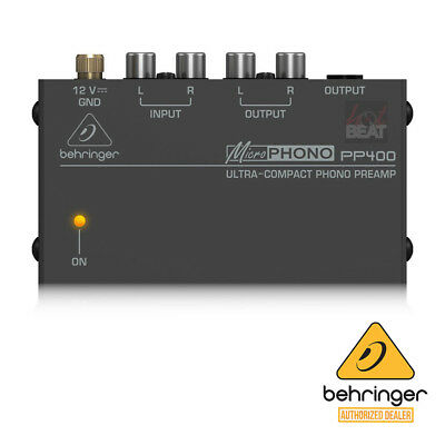 Behringer MicroPhono PP400 Phono PreAmp 689076811781 Preamplificador 110-240V • 18£