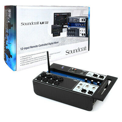 Soundcraft Ui12 Remote-Controlled 12-Channel Digital Mixer Console 110-240V • 167.50£